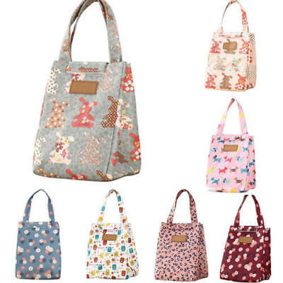 Cute Women Ladies Kids Portable Insulated Lunch Bag Box Picnic Tote Cooler Work