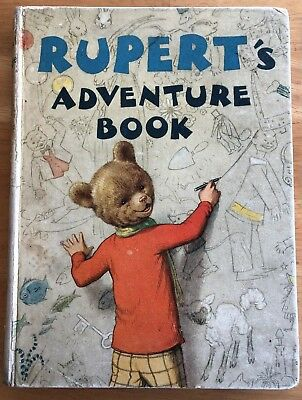 Rupert Bear Annual 1940 Original Inscribed  Clean Contents Vg Example Scarce