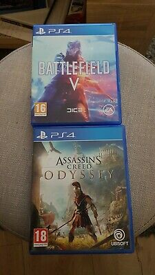 2 jeux PS4 neufs battelfield 5 et assassins creed Odyssey