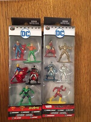 Dc Comics Nano Metalfigs Die Cast 2 Packs Wonder Woman Batman Superman