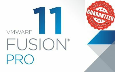 Vmware Fusion 11 Pro Full Version Lifetime License/ Works on multiple devices!!