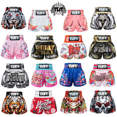 NTW TUFF Muay Thai Boxing Shorts Training Kick MMA Men Women Trunks Fight Gym