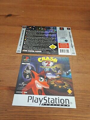 Ps1 Crash Bandicoot 2  Front And Back Cover / Insert Only Look