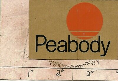 "Peabody Coal Co -Hard Hat-Coal Mining Sticker-Decal ""very Rare"""