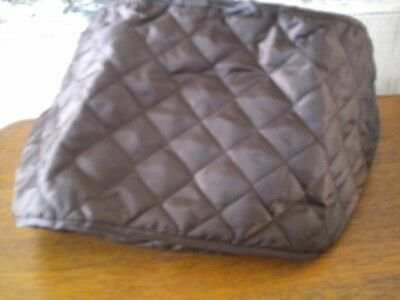 "TOASTER COVER, quilted, four slice, dark brown, 11 1/2"" x 8"" x 8""  new, unused"