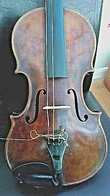 Antique Ribbed Back Violin - Nice Quality - Aged Condition - Lovely