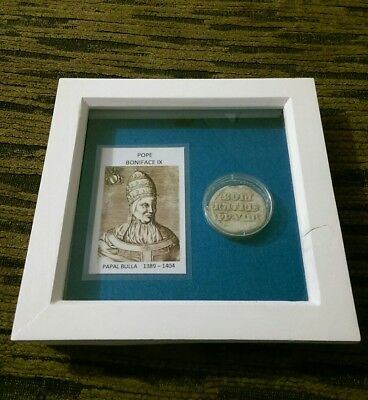 papal bulla pope boniface IX 1389-1404 perfect condition (framed). (Richard II)