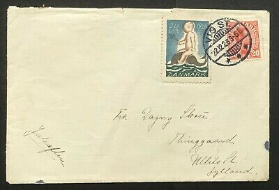 Denmark 1926. Domestic cover with tied christmas seal.