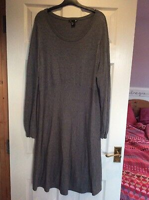 H&M Mama Grey Woolly Dress Size XL