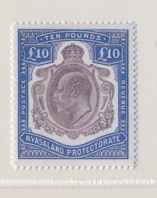 ***REPLICA*** of Nyasaland 1908-11, £10 Ultramarine & Purple SG 82