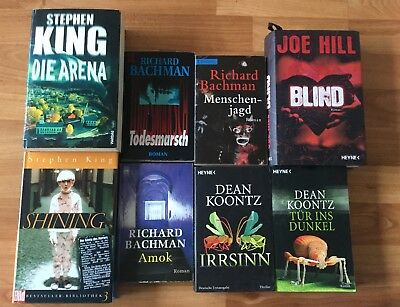 8 Horror Bücher - Stephen King, Richard Bachmann, Dean Koontz, Joe Hill