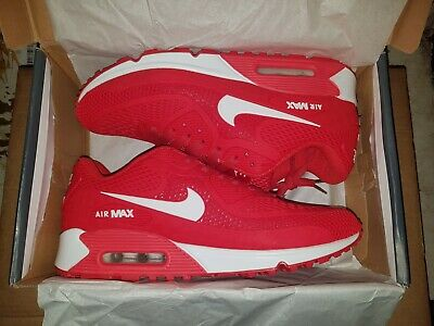 buy popular d4a30 b1909 NIKE Air Max 90 Rouge Blanc UK 8.5   US 9.5 Taille 43 EU Basket Chaussure