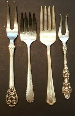 Antique Sterling Silver Forks, Mixed Lot of 4