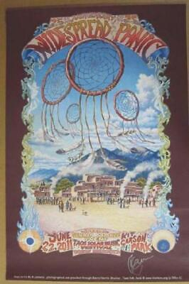 Widespread Panic Taos 2011 Original Concert Poster Signed X Connally 24X36