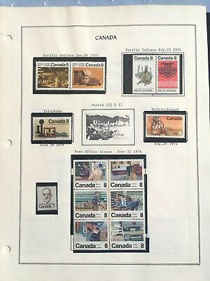Canada Selection on Album Page. Nice stamps F-VF  (n) MNH
