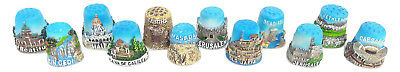12pc Thimble Souvenir From Israel&palestine Sewing Holyland Thimbles Collection