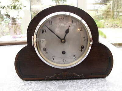 Lovely Oak Cased Westminster Chime Clock