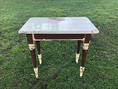 Antique Late Victorian / Edwardian Small Kitchen / Work Table, Oak?