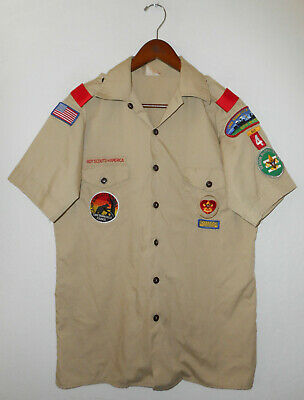 BOY SCOUTS Of America UNIFORM Shirt #4 Official BSA Scout USA Adult Mens : MD