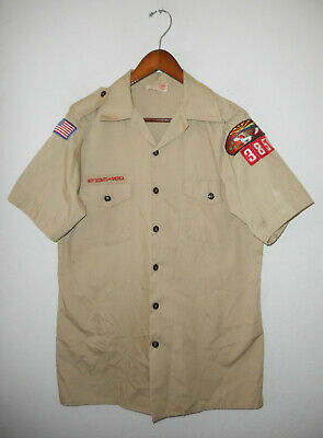 BOY SCOUTS Of America UNIFORM Shirt #385 Official BSA Scout USA Adult Mens : MD