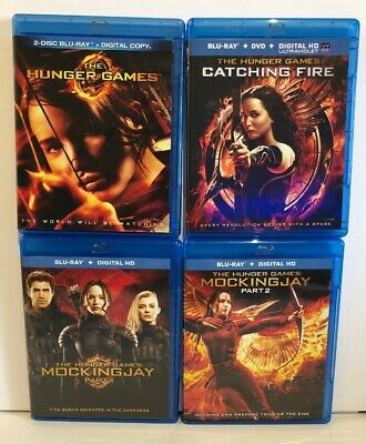 The Hunger Games Complete 4 Film Set Blu-ray. No Digital