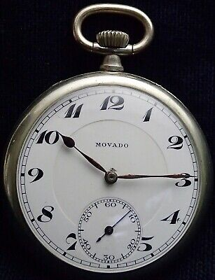 Excellent MOVADO  Patent Working Pocket Watch circa 1925