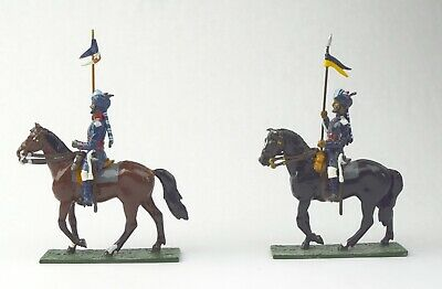 4 Pcs Lead Mounted Soldiers British 6th Cavalry  NO RESERVE Lot 39 of 50