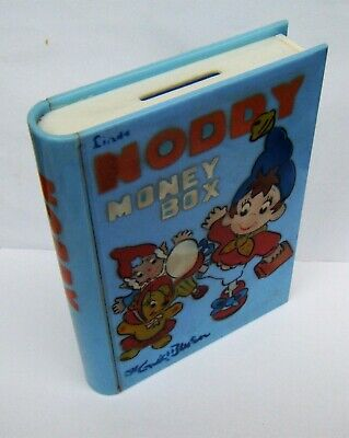 Great Vintage Noddy Money Box In The Shape Of Enid Blyton Book c1950s