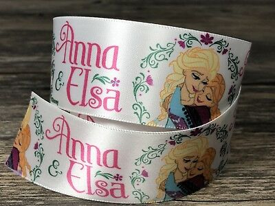 Frozen Anna Elsa White Pink Ribbon Girls NEW!