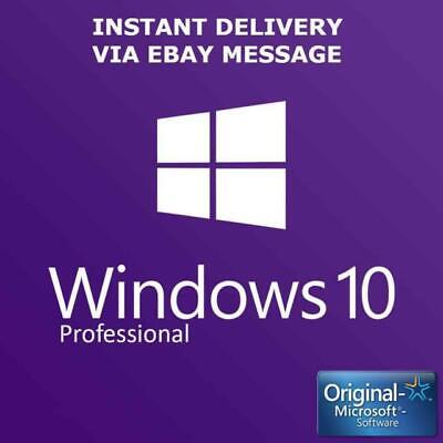 Windows 10 Pro Professional Activation Code 32/64bit Key Genuine Product LICENZA
