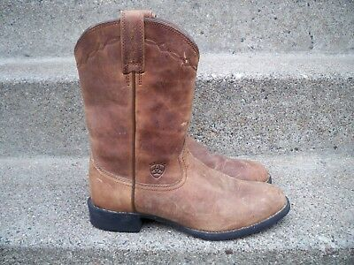 1f60de88402 ARIAT MENS HERITAGE Roper Western Cowboy Distressed Brown Leather Boots  Size 8.5