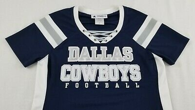 NFL Dallas Cowboys Sparkle Bling Sequins Fitted Jersey Shirt Women s Size  Small c96b5f3bf