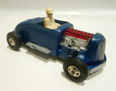 Vintage original Louis Marx sparkling hot rod toy car with driver
