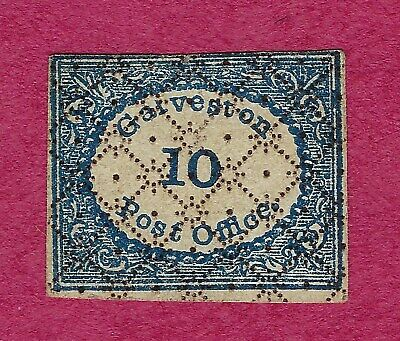 Galveston Post Office 10, small stamp, unissued or Fake Confederate, TX, Texas