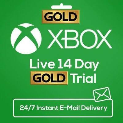 INSTANT Email Delivery - Xbox Live Gold 14 Days 2 Weeks Trial Code WORLDWIDE Key