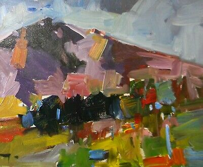JOSE TRUJILLO OIL PAINTING Large 16x20 Canvas Mountain View Impressionism SIGNED