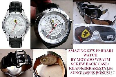 New/nwt Scuderia Ferrari Sports Auto Race 0830092 Ferrari Watch By Movado+Bonus