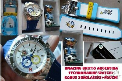 New Chrono 200M  Britto 114023G Technomarine Argentina World Cup Soccer Watch