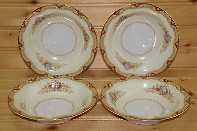 Noritake Glenwood 6500 (4) Fruit Berry Dessert or Sauce Bowls, 5 3/4""