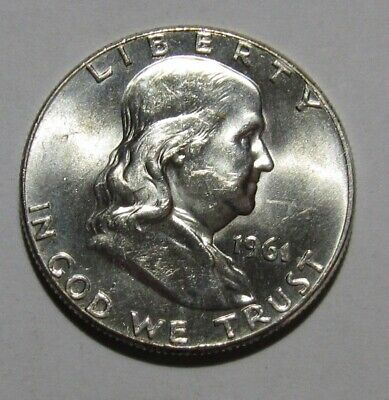 1961 Franklin Half Dollar - BU Condition - 258SU