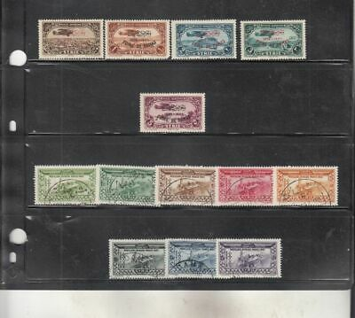 oldhal-Damascas- two good Air Mail Sets from 1936-7