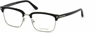 Tom Ford TF 5504 FT5504  shiny blk acetate front temples shiny 005 Eyeglasses