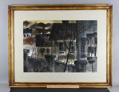John Michael Angelini, Bloomfield New Jersey Town Cityscape Watercolor Painting