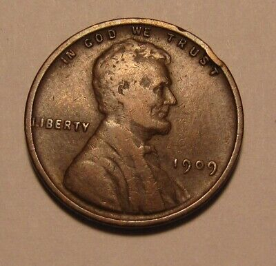 1909 VDB Lincoln Cent Penny - Very to Extra Fine Condition - 1FR