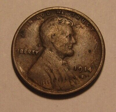 1914 S Lincoln Cent Penny - Very Fine Condition - 8FR
