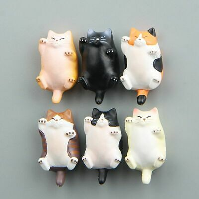 Funny Cartoon Animal Cute Cat Fridge Magnet Sticker Refrigerator Home Decoration