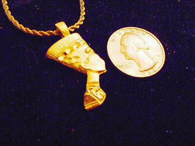 bling gold plated MYTH egyptian queen GODDESS pendant Charm Necklace JEWELRY GP