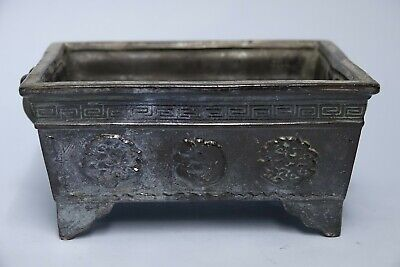 Interesting Old Chinese Pottery Censer With Archaic Design - Rare - L@@k