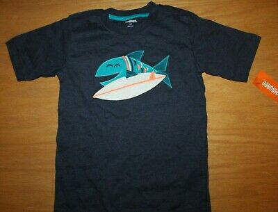 NWT Gymboree Surf Wagon Size 5T Blue Fish Surfing Shirt Top