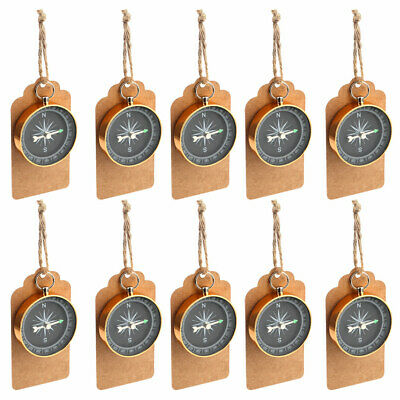 50×Travel Themed Wedding Supplies Compass + Kraft Paper Gift Souvenir for Guests